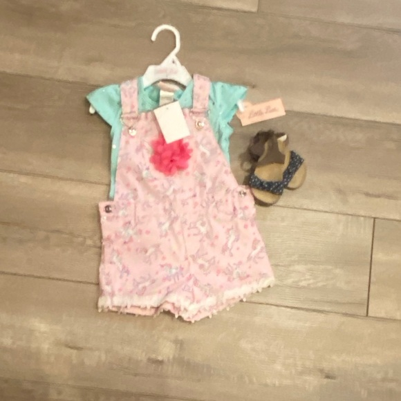 Little Lass Other - NWT little lass 2t baby girl pink overalls outfit